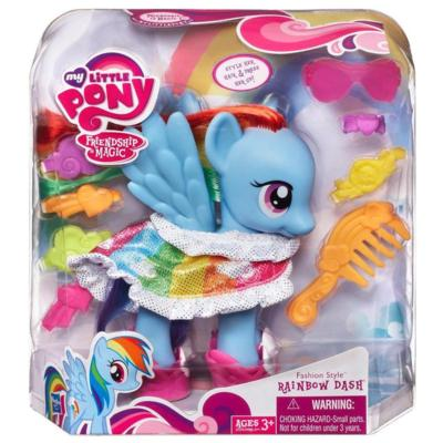 Fashion Style Rainbow Dash Toy