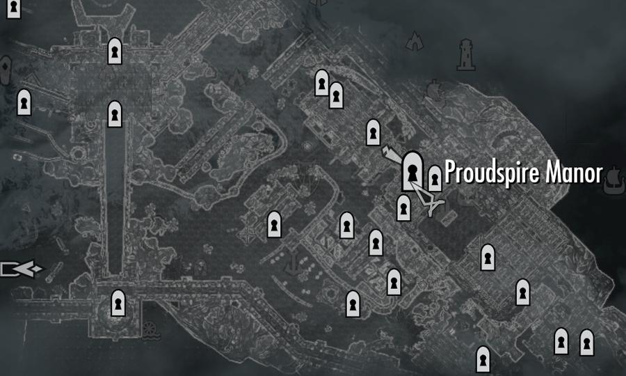 how to get proudspire manor