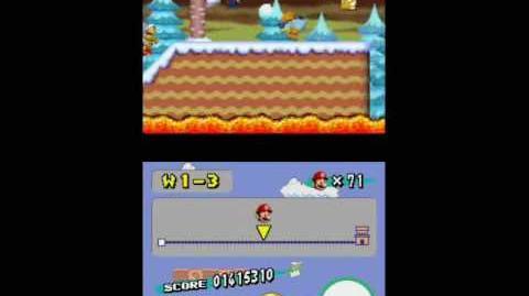 Newer Super Mario Bros. Wii - Freezeflame Volcano (4-x) Prototype.
