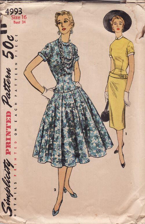 simplicity 4993 vintage sewing patterns