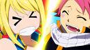 Natsu steps on Lucy while dancing.jpg