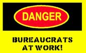 Danger-label-yellow bureaucrats