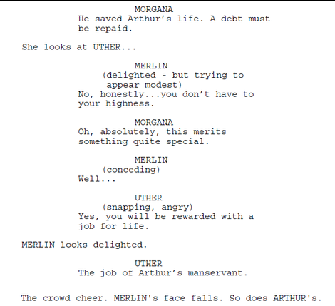 Image - Merlin Series 1 Episode 1 Script Origional Version ... Tv Show Script