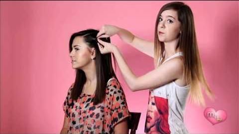 """How-To Waterfall Braid"" Megan and Liz on Style"