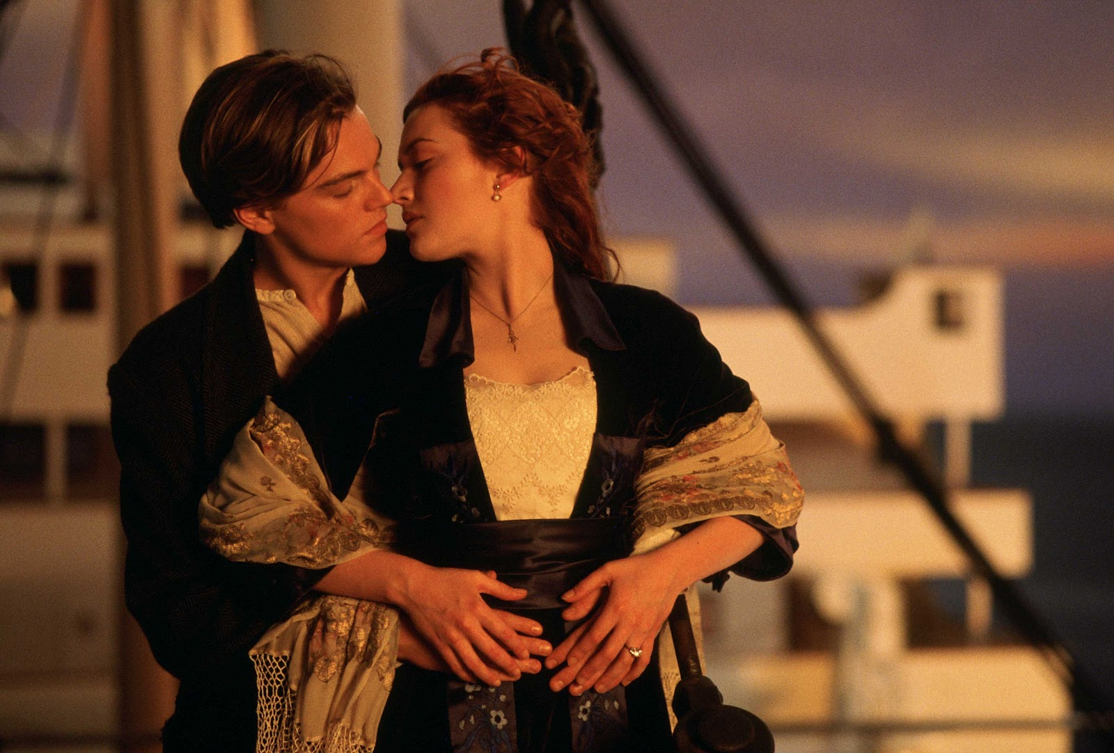 Kate Winslet Titanic Painting Scene Jack and rose share their