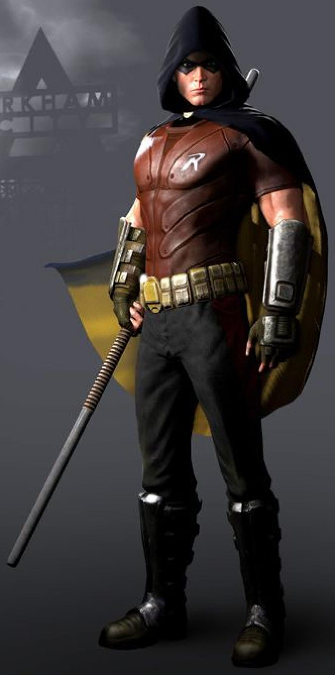 Robin  Batman  Arkham City Robin Arkham City Hood