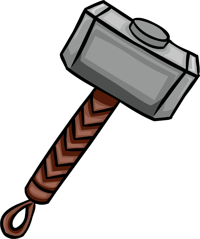 mjolnir club penguin wiki the free  editable encyclopedia about club penguin igloo clip art white in middle igloo image clipart