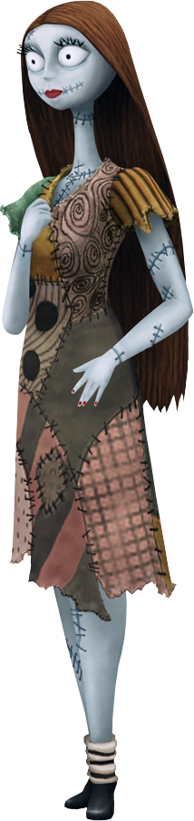 Sally appears in all 3 Nightmare Before Christmas Sally Full Body
