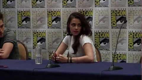 Breaking Dawn Part 2 Comic Con 2012 Panel 2 - Robert Pattinson, Kristen Stewart, Taylor Lautner