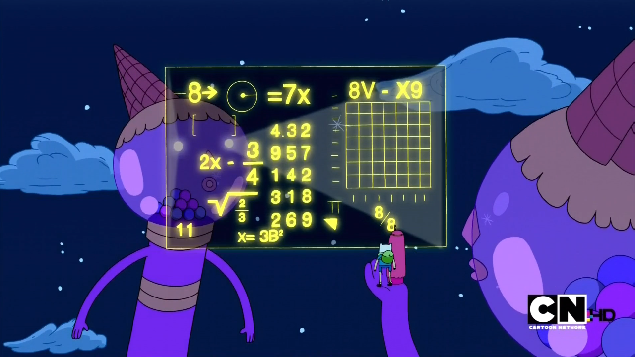 Image - S1e1 difficult math problem.png - The Adventure ...