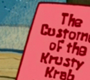 The Customers of the Krusty Krab and why I Love Them