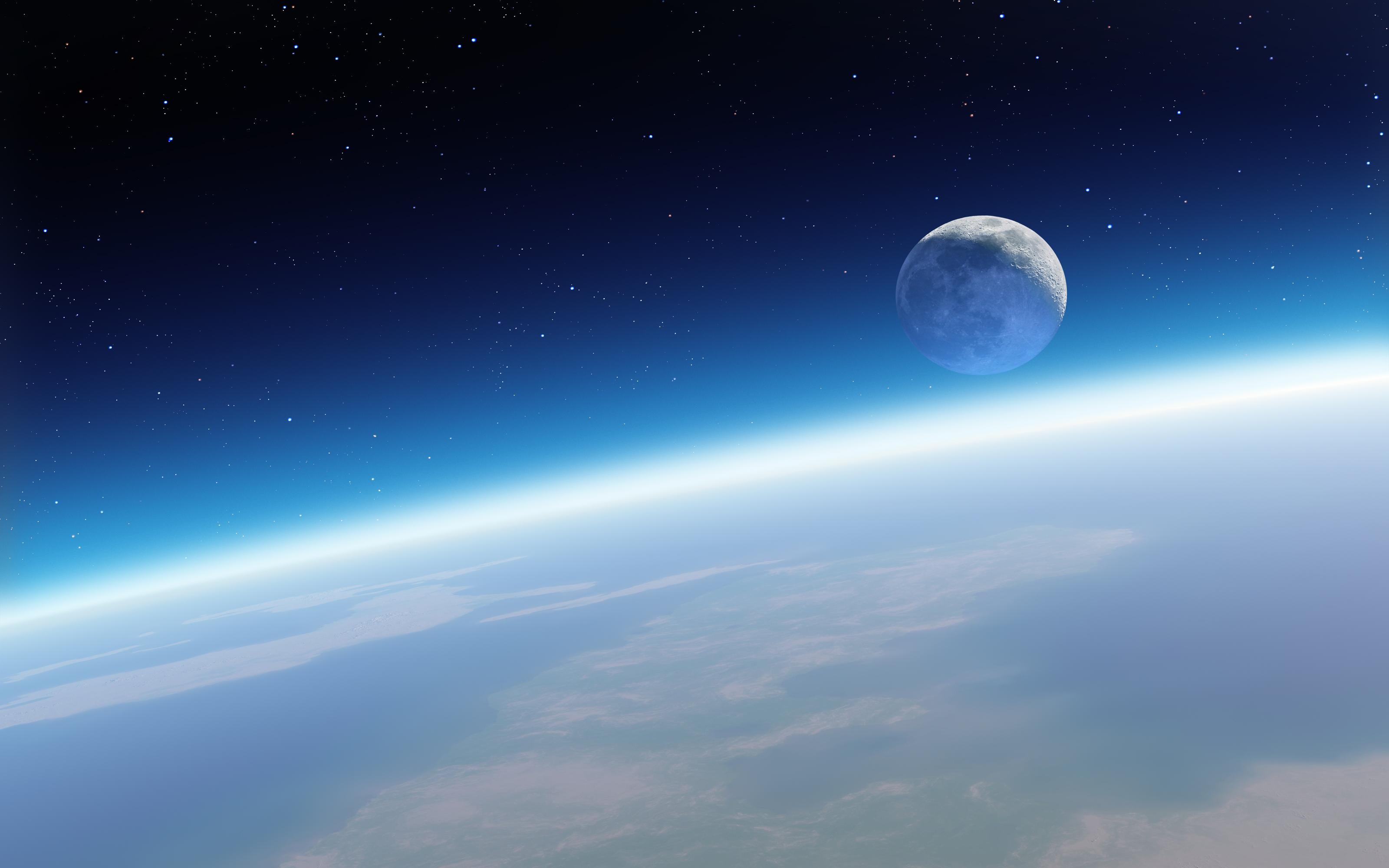 Must see Wallpaper Mac Space - Earth_and_Moon  2018_951126.jpg