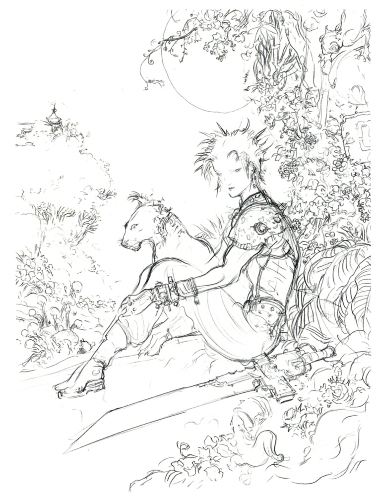 Tattoo Clouds Sketch Sketch of cloud and red xiii