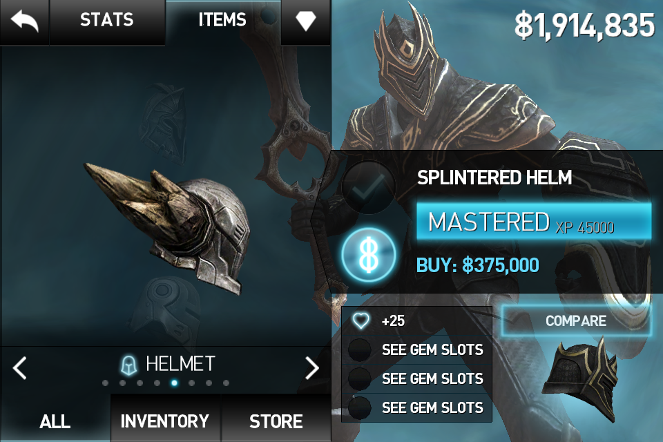 Star slot infinity blade 3 / 9dragons add slots to clothes