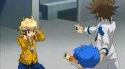Takanosuke escolher qual bey para a batalha contra