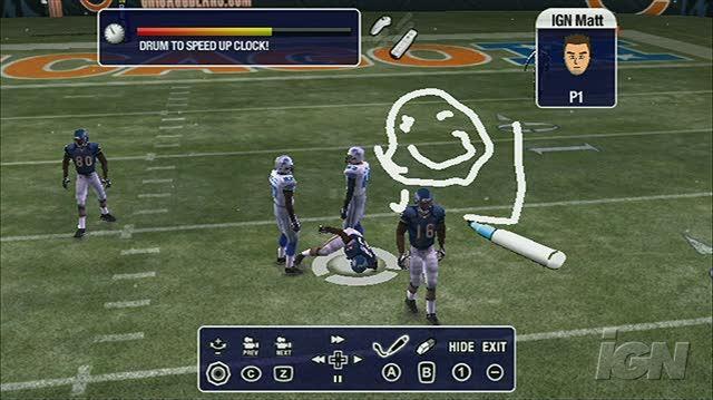 Madden NFL 08 Nintendo Wii Gameplay - Telestrator Demonstrated (480p)