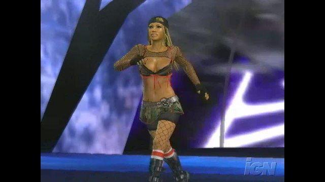 WWE SmackDown vs. Raw 2008 PlayStation 2 Gameplay - Ashley Entrance