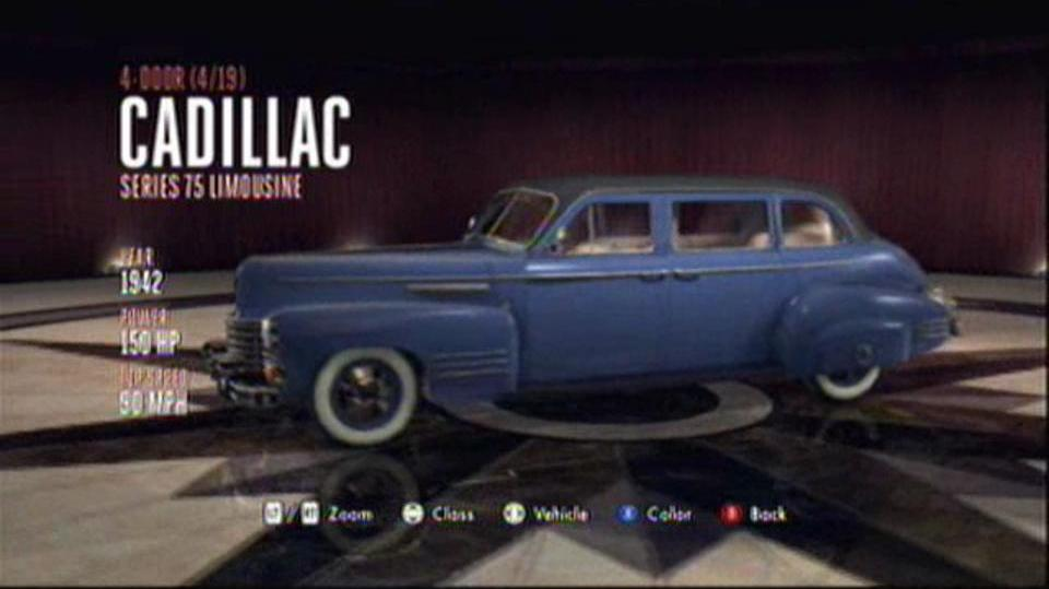 L.A. Noire Hidden Vehicles 4-Door - Cadillac Series 75 Limousine - Hollywood