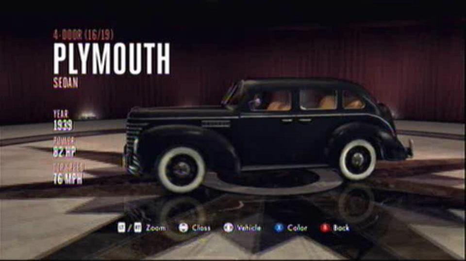 L.A. Noire Hidden Vehicles 4-Door - Plymouth Sedan - East Downtown