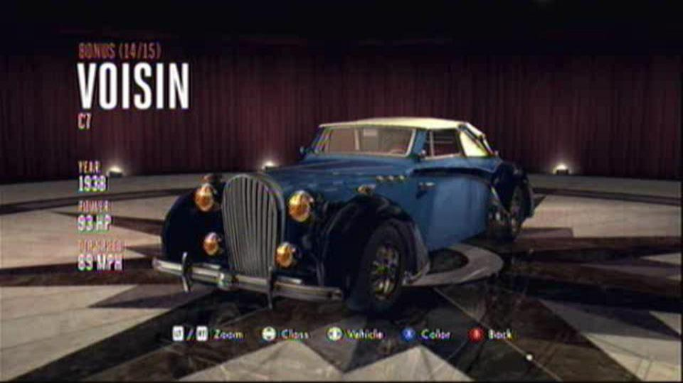 L.A. Noire Hidden Vehicles Bonus - Voisin C7