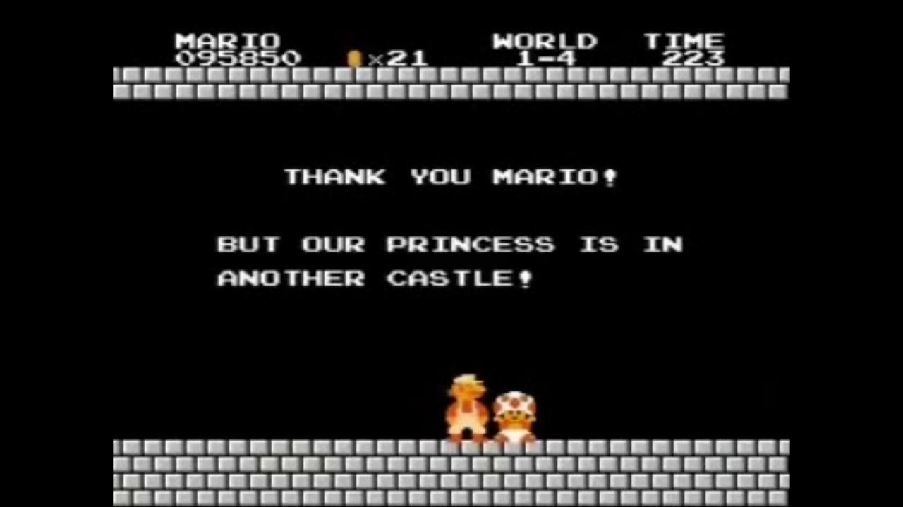 Super Mario Bros. Our Princess Is In Another Castle