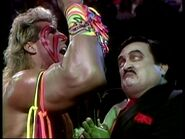 With Ultimate Warrior on The Funeral Parlor  WWF Superstars 4 13 91 Ultimate Warrior Funeral Parlor