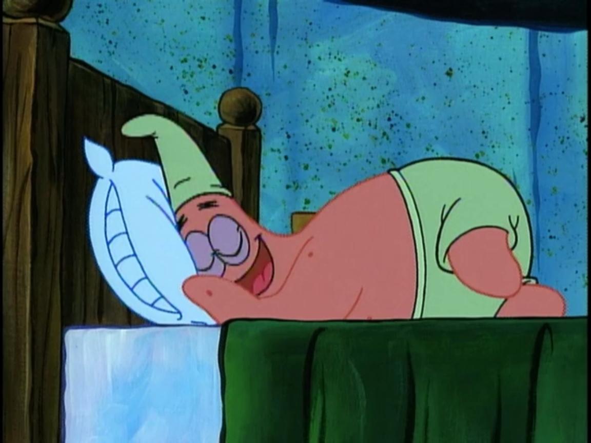 Patrick star being lazy