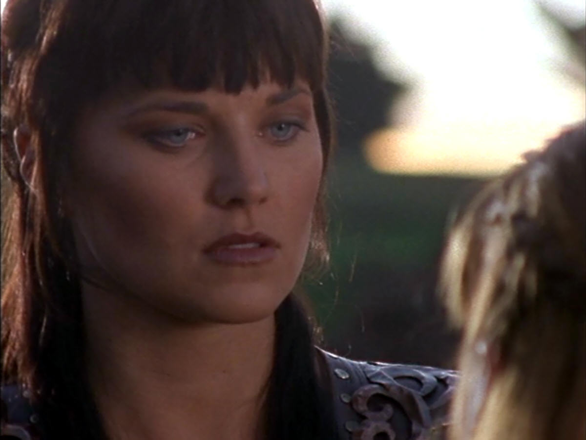 Xena gets angry with Gabrielle who suggests telling Solan  she is his    Xena Warrior Princess Angry