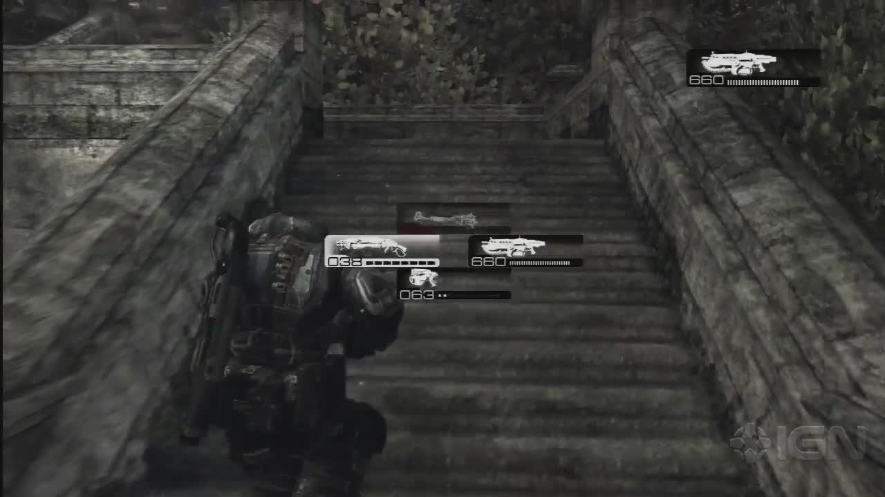 Gears of War - Up the Stairs - Gameplay