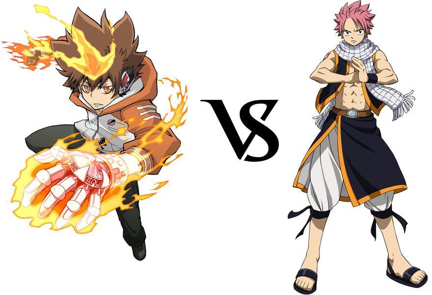 Tsunayoshi Sawada vs. Natsu Dragneel - BattleArena Wiki Gaara And Rock Lee