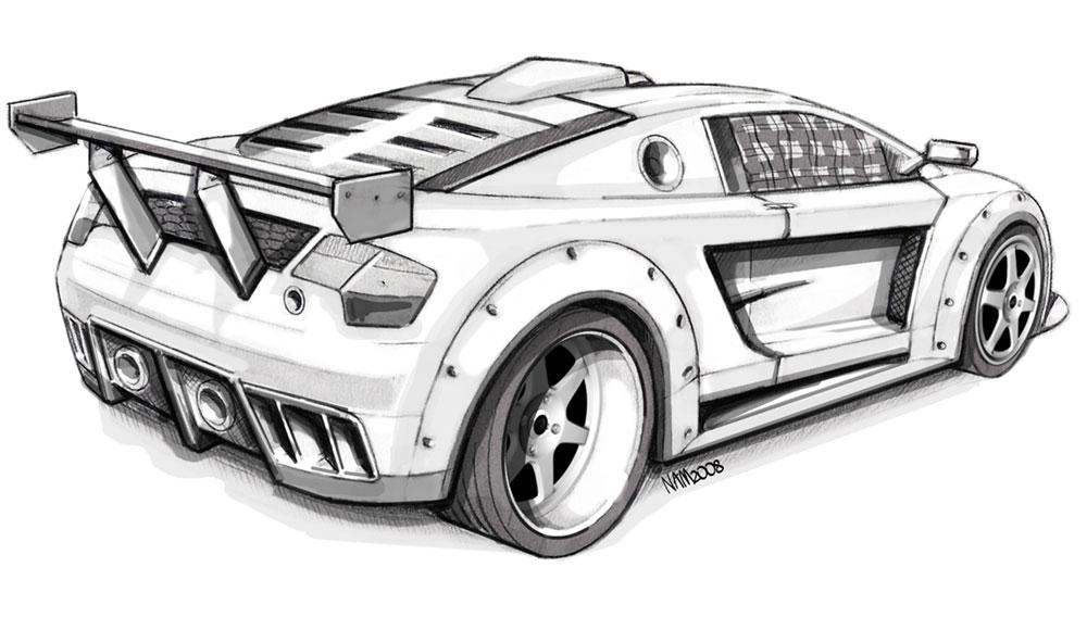 car sketches sketch coloring page