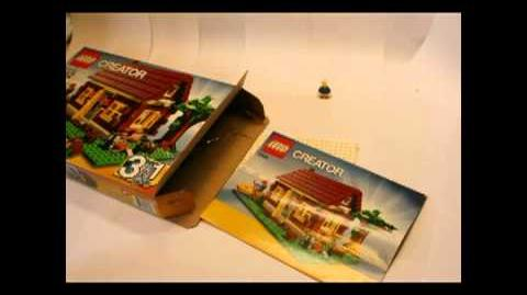 Lego Log Cabin Time Lapse (FT 5766 Creator Log Cabin)