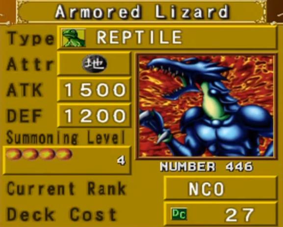 Armored Lizard (DOR) - Yu-Gi-Oh!