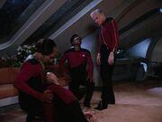 Riker nach dem Kampf mit Quinn