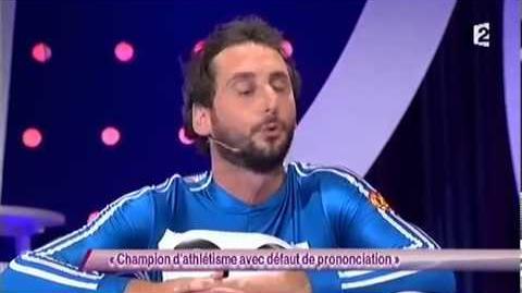 Champion d'athlétisme avec défaut de prononciation