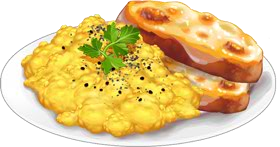 Recipe-Scrambled Eggs with Toast