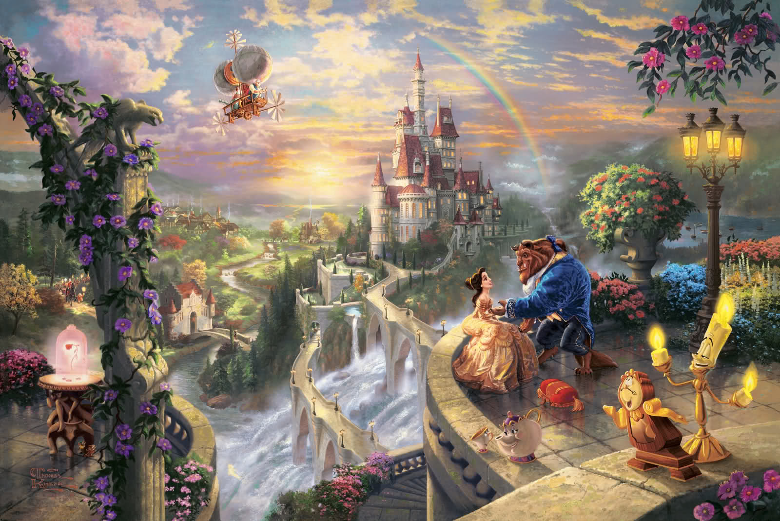 Tomas Kinkade - Page 6 Thomas-Kinkade-Disney-Dreams-disney-princess-31536124-1600-1068