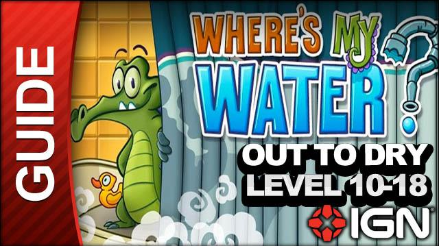 Where's My Water? - Out to Dry - Level 10-18 Bucket Builder - Walkthrough