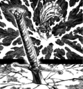 Gilthunder sticking the sword into the ground.png