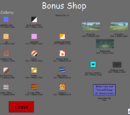 Bonus Coins and Shop