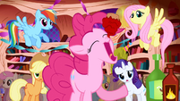 Pinkie Pie swallowing cupcake in one bite S1E1