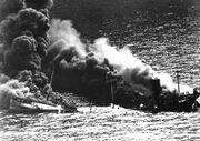 USS Oregon sinking