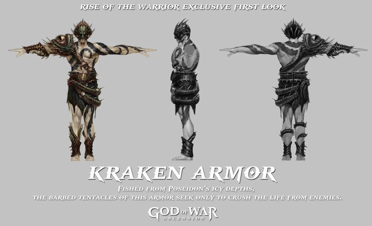 Kraken Armor - God of War Wiki - Ascension, Ghost of ...
