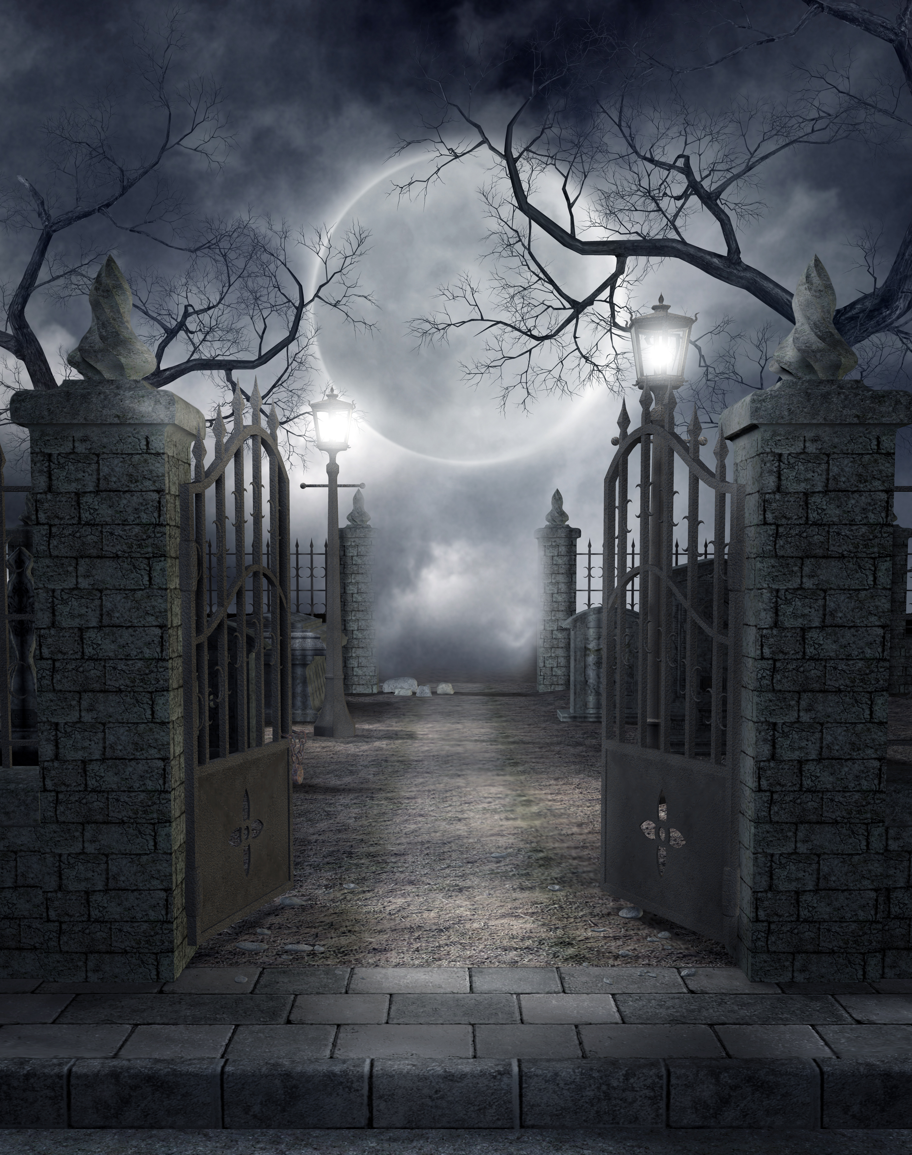 Výsledek obrázku pro strašidelný hřbitov