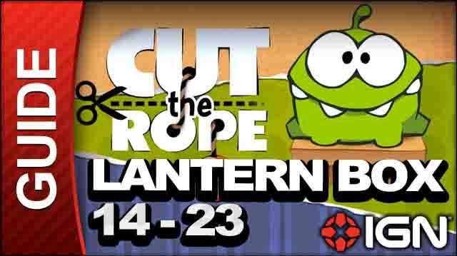 Cut the Rope - Lantern Box 3-Star Walkthrough - Level 14-23