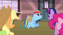 Rainbow Dash sad flashback face S3E12