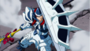 Erza using adamantine and giant's spear to defeat monster.png