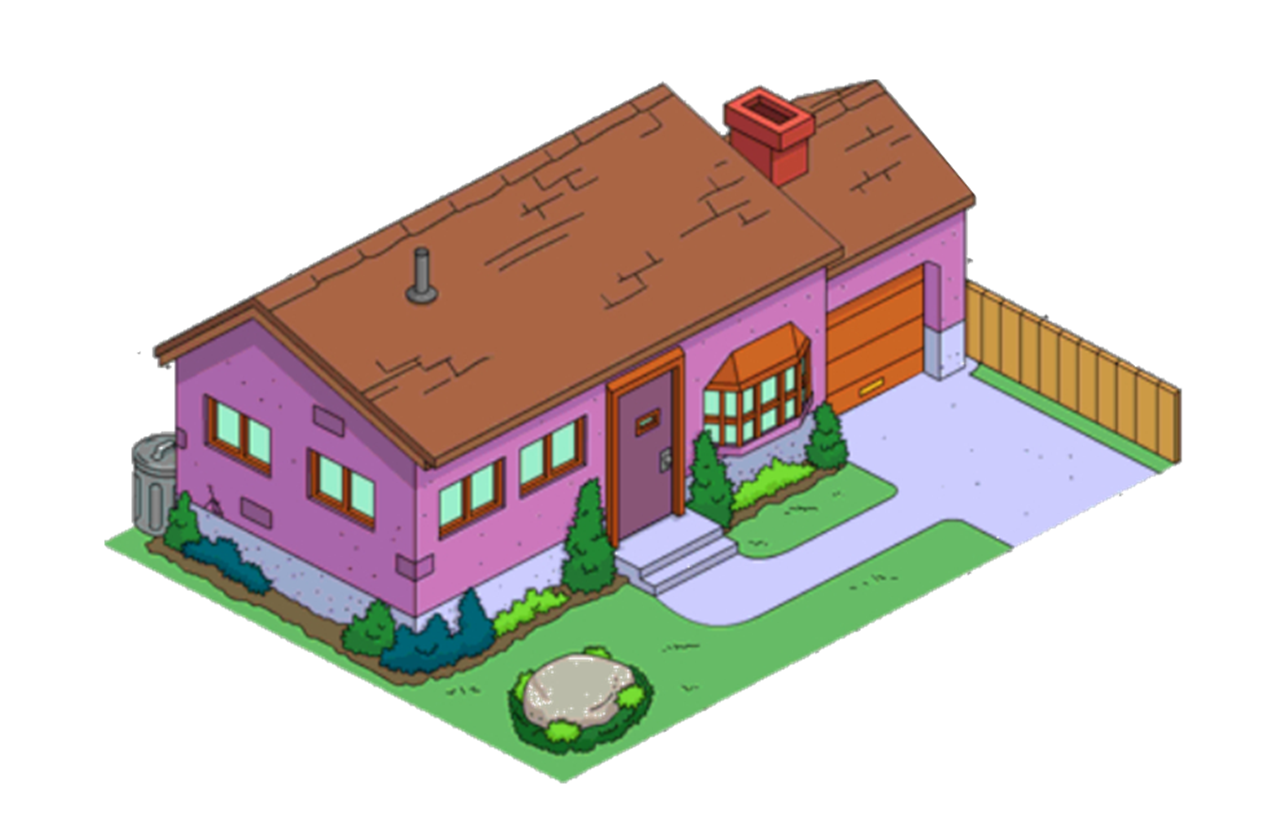 how to make the simpsons house