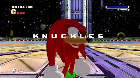 Super Knuckles vs Super Sonic Sonic Adventure 2 Knuckles The