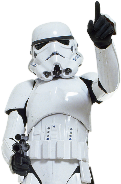 Star Wars White a Stormtrooper Armed With an